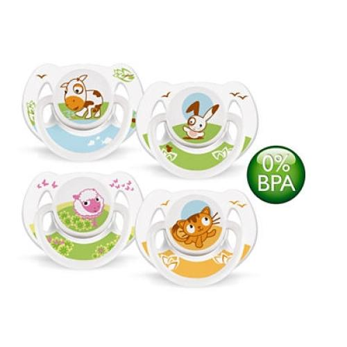 SCF182/24 Avent Classic Pacifiers 0-6M Bpa-fre